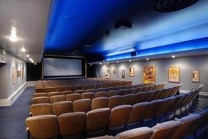 a movie theater in a hotel